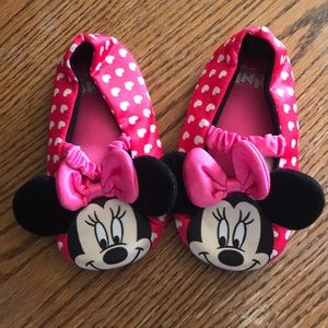 Disney Minnie Mouse (7-8) ballet flat slippers